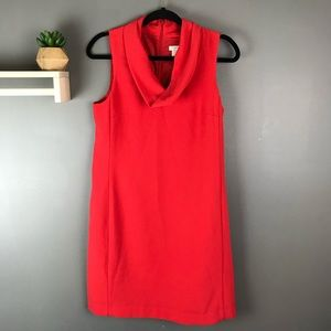 J. Crew sleeveless cowl neck dress red sz Small